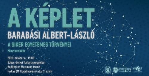 Barabási Albert-László: A képlet. Könyvbemutató