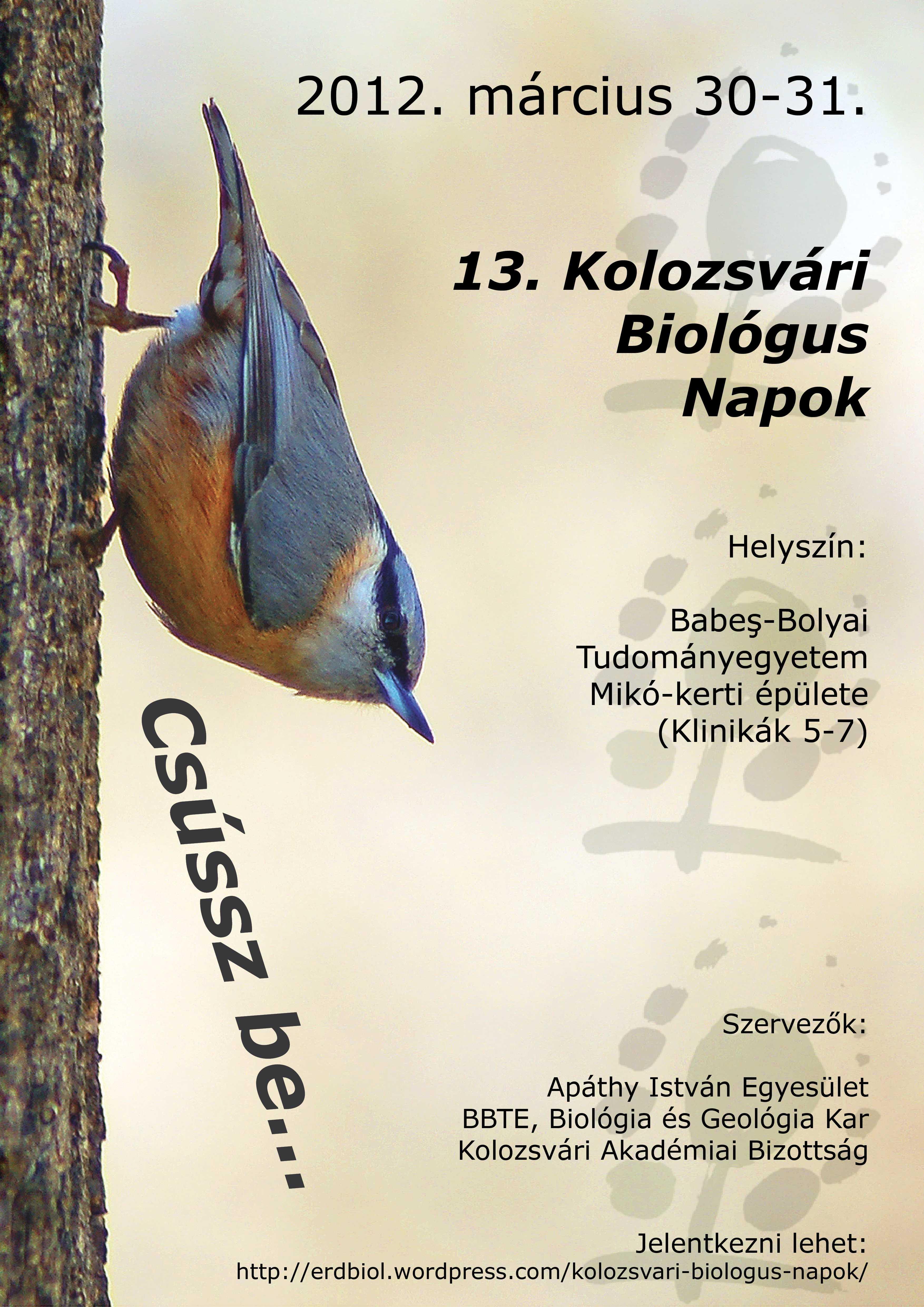 13. Biológus Napok Kolozsváron