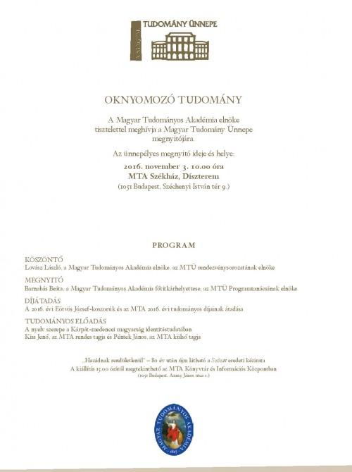 A nyelv szerepe a Kárpát-medencei magyarság identitástudatában - Péntek János és Kiss Jenő díszelőadása a Magyar Tudomány Ünnepének nyitórendezvényén