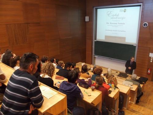 Kozma Tamás előadása és kötetbemutató a Sapientia EMTE Tanárképző Intézeténél